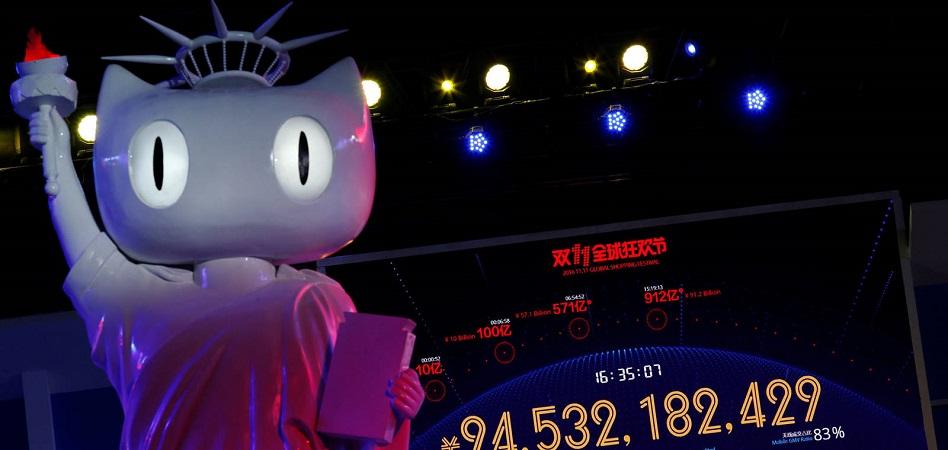 Alibaba bate récord en el Singles' Day: supera los 21.700 millones de euros