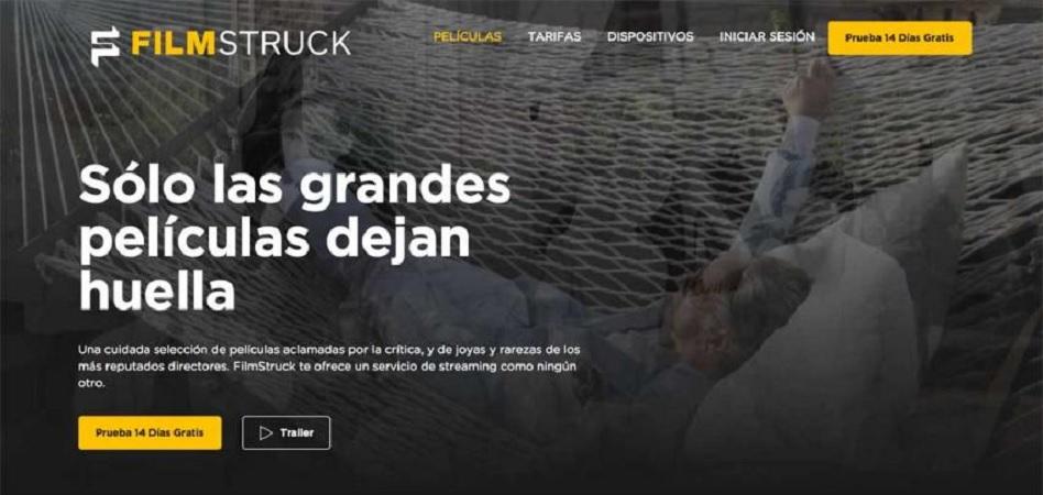 La plataforma de cine en 'streaming' Filmstruck llega a España para competir en 'terreno Netflix'