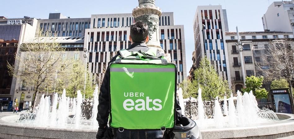 Uber aterriza en Zaragoza con su servicio de reparto de comida a domicilio