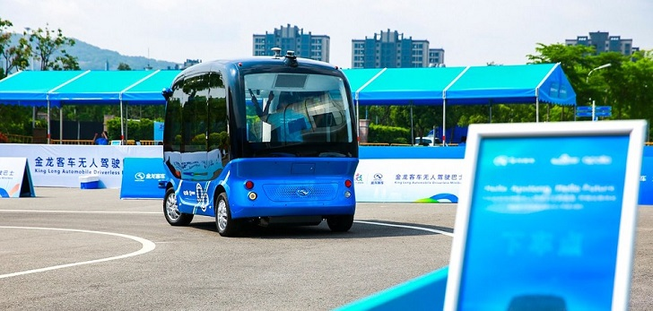 China ya fabrica en masa minibuses autónomos