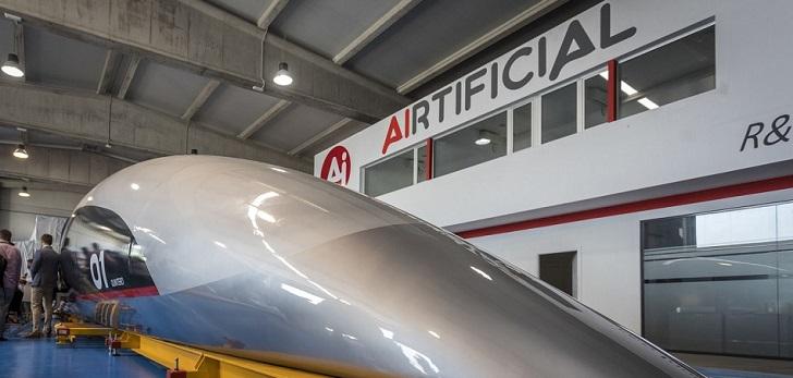 Airtificial traslada la cápsula de Hyperloop a Francia para iniciar las pruebas del tren supersónico